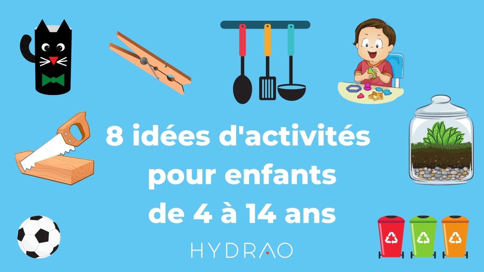 8 idées d'activités enfant confinement