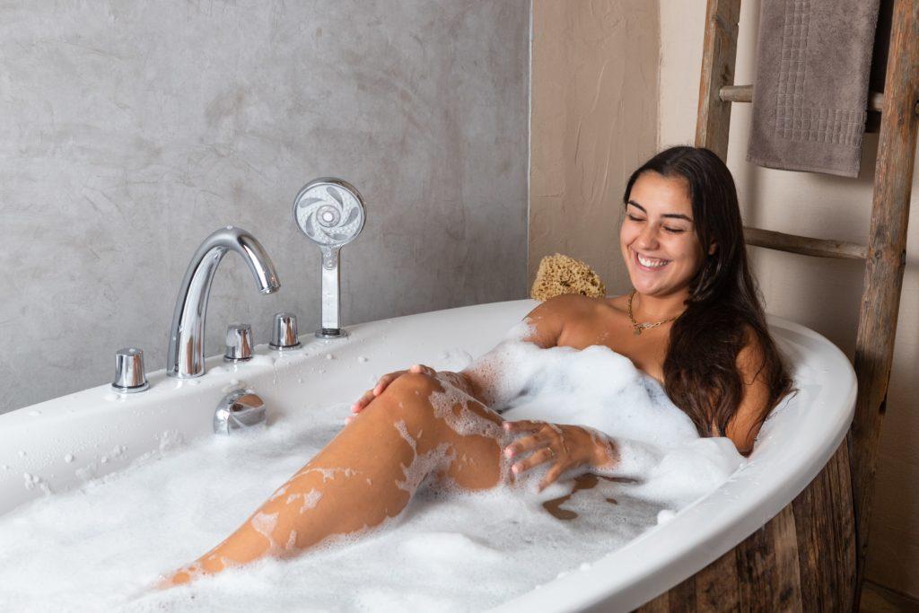 Baignoire espace de détente et relaxation