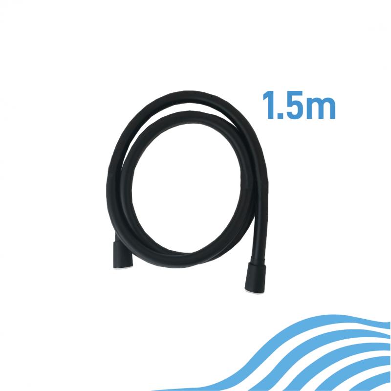 PVC Shower Hose Matte Black 1.5m
